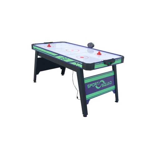 JOOLA Sport Squad 66in Air Powered Hockey BLUE/GREEN with Table Tennis Conversion Top