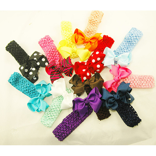 Three-in-one Hair Bows (Pack of 12)