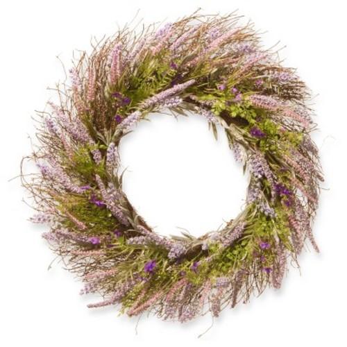 Artificial Lavender Wreath Purple 24