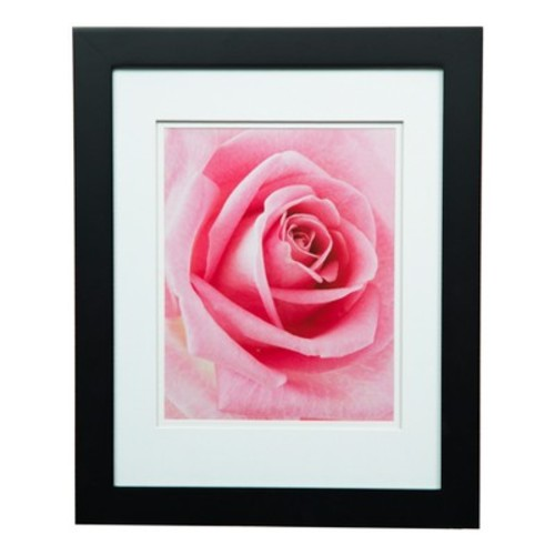 Single Image 11X14 Wide Double Mat Black 8X10 Frame - Gallery Solutions