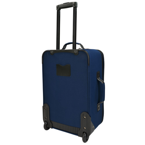 U.S. Traveler 2-Piece Carry-On Rolling Upright & Duffel Bag Luggage Set Navy