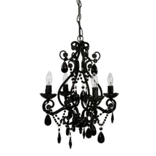 Tadpoles by Sleeping Partners 4-Bulb Mini Chandelier in Black Onyx