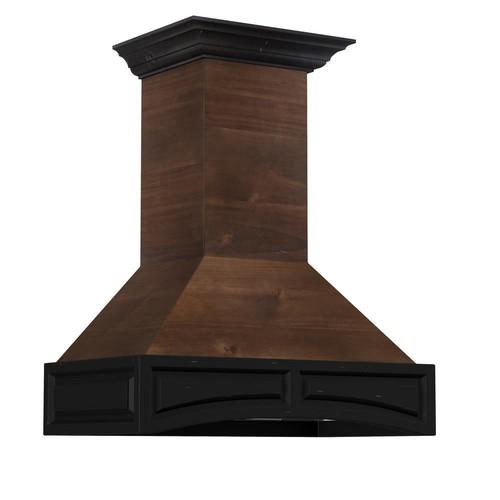 ZLINE Kitchen and Bath ZLINE 36 in. 1200 CFM Designer Series Wooden Wall Mount Range Hood