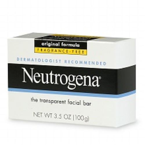 Neutrogena Transparent Facial Bar Soap, Face Wash & Cleanser Fragrance Free, Fragrance Free