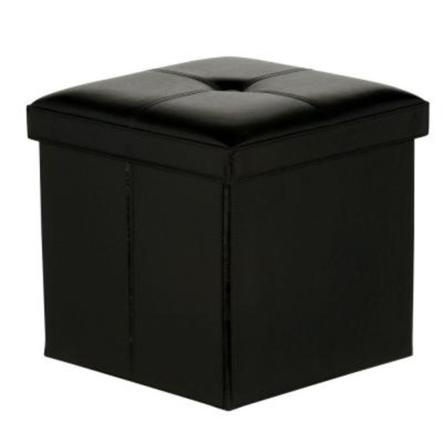 Hampton Bay Black Folding Ottoman