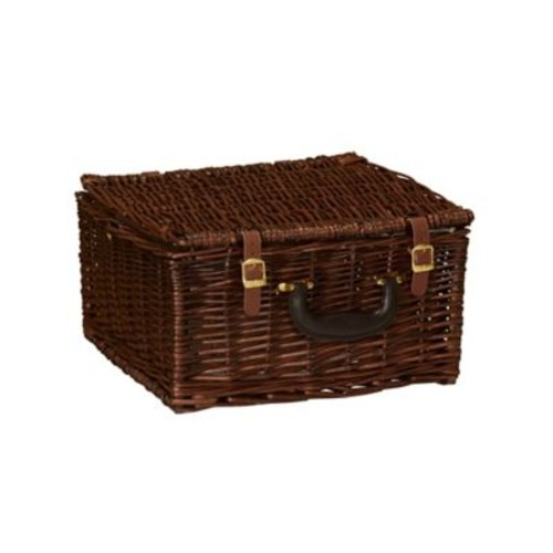 Household Essentials Willow Wicker Picnic Basket with Service for 2