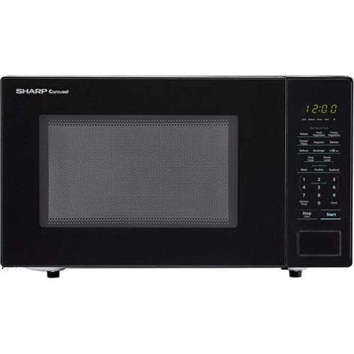 Sharp Carousel 1.1 Cu. Ft. 1000W Countertop Microwave Oven in Black SMC1131CB