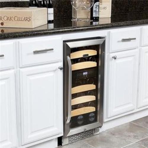 Whynter 28 Bottle Dual Zone Built-In Wine Refrigerator