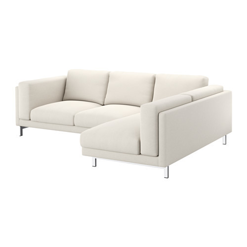 NOCKEBY Cover for sofa, with chaise, right right, Tallmyra white/black [cover : with chaise, right/Tallmyra white/black]