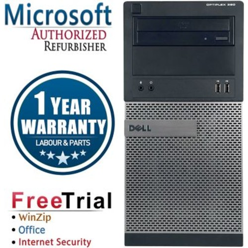 Refurbished Dell OptiPlex 390 Tower Intel Core i5 3.1GBhz 8GB RAM 2TB Hard Drive Windows 10 Pro