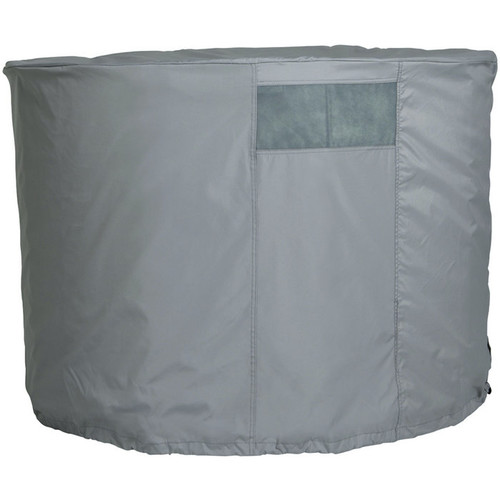 Classic Accessories Round Evaporation Cooler Cover  Gray, Fits 45in. Dia. x 32in.H Coolers,