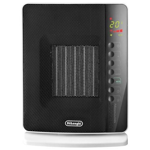 DeLonghi - 1500W Ceramic Heater - Black/White