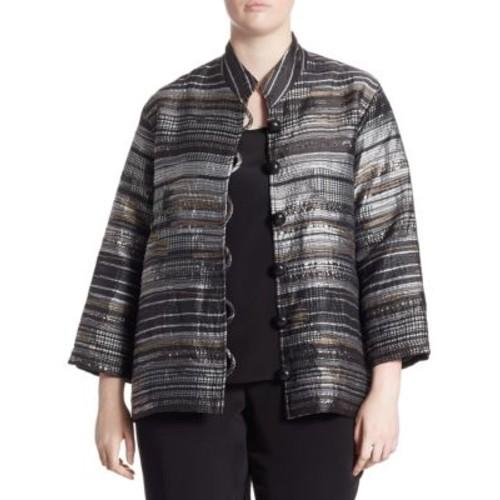 Plus Metallic Jacquard Jacket