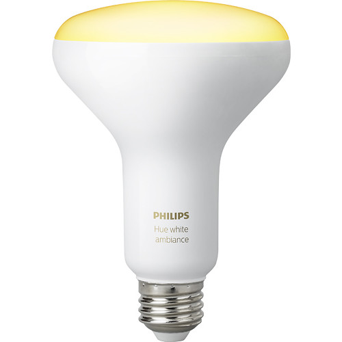 Philips - Hue White Ambiance Dimmable BR30 Wi-Fi Smart LED Bulb - Adjustable White