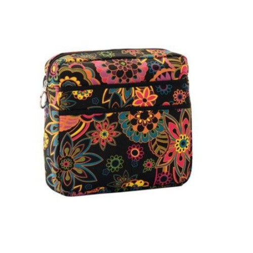NOVA Medical Products Mobility Bag, Black Multi, Boho Blossoms