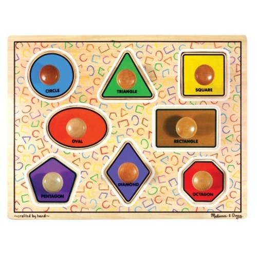 Melissa & Doug Large Shapes Jumbo Knob Wooden Puzzle (8pc)