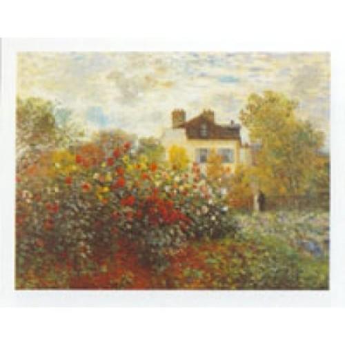 Art Poster Print - Claude Monet in the Garden - Artist: Claude Monet-