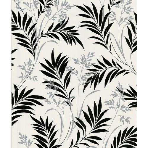 Bali Hai Foliage Wallpaper in White by Brewster Home Fashions - 2 [Quantity : 2]