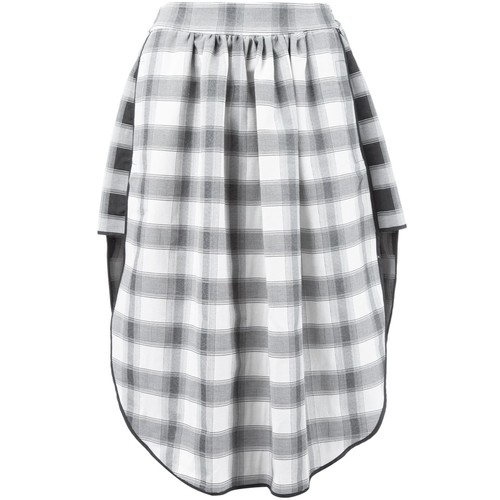VIVIENNE WESTWOOD Checked Pleat Detail Skirt