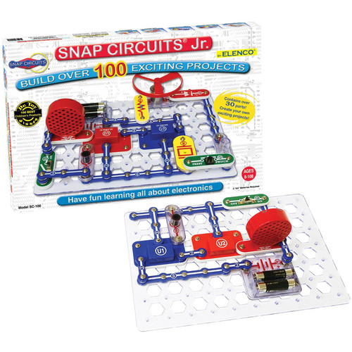 Snap Circuits Jr. SC-100 Electronics Discovery Kit [Standard Packaging]