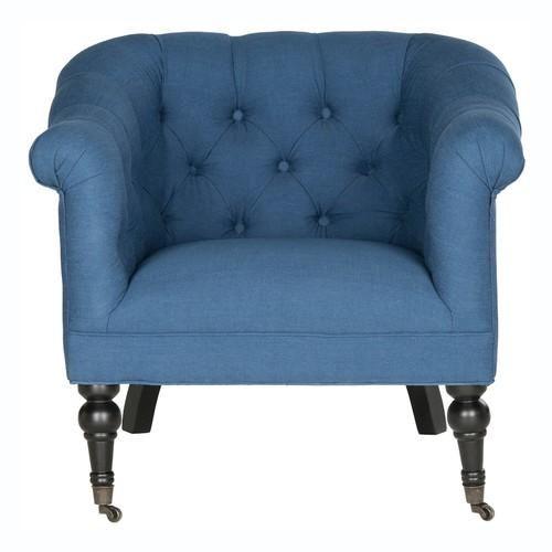 Safavieh Nicolas Antique Black Club Chair
