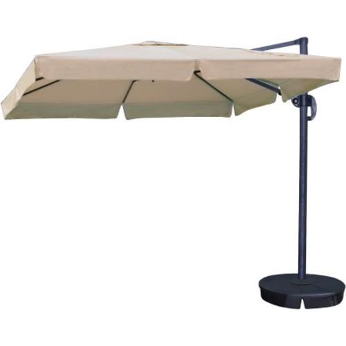 Swim Time Santorini II 10' Square Cantilever Umbrella with Valance, Sunbrella Acrylic Fabric with Base (Box 2 of 2)