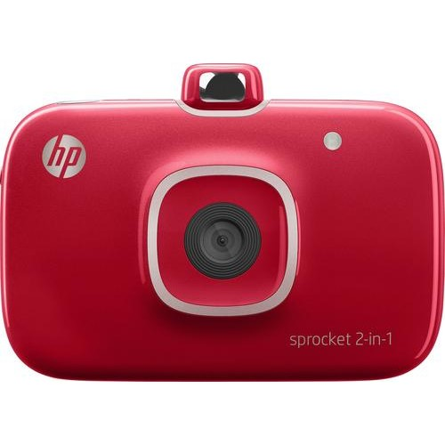 HP - Sprocket 2-in-1 Photo Printer - Red