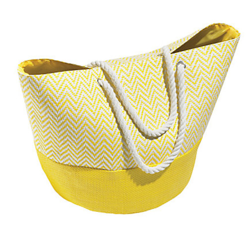 Orbit Chevron Straw Beach Tote, 15