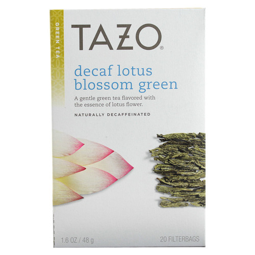 Tazo Decaf Lotus Blossom Green Tea -- 20 Tea Bags
