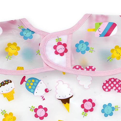 Koala Baby Girls 2 Pack Ice Cream EZ Wipe Bibs