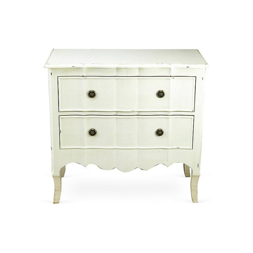 Marnie 2-Drawer Nightstand, Antiqued White