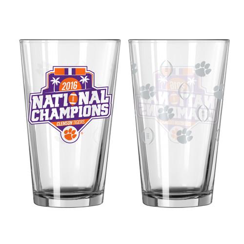 NCAA College Football Playoffs 2016 Championship Pint Glass  Clemson Tigers