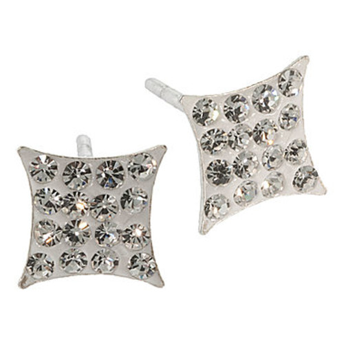 Sterling Silver Diamond-Shaped Crystal Stud Earrings - JCPenney