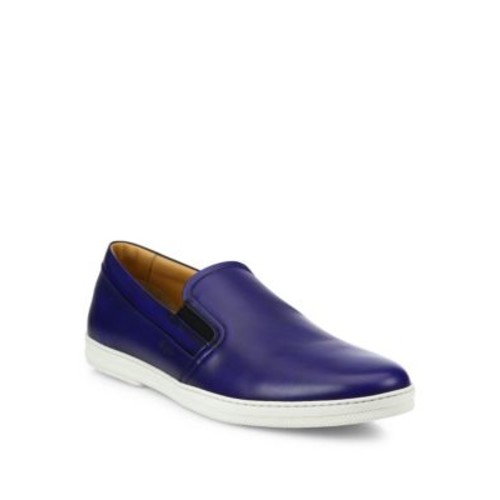 SALVATORE FERRAGAMO Leather Slip-On Sneakers