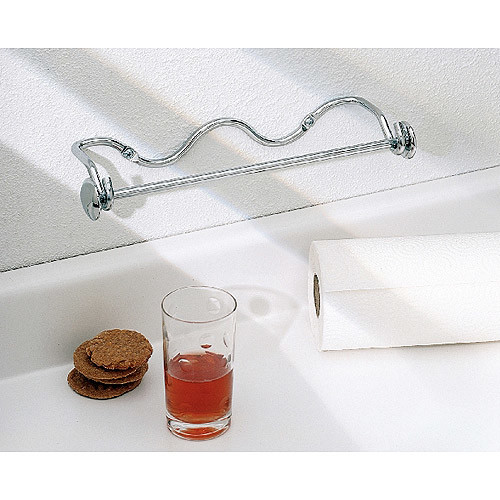 InterDesign Paper Towel Holder, Awavio Wall Mount for Kitchen, Chrome