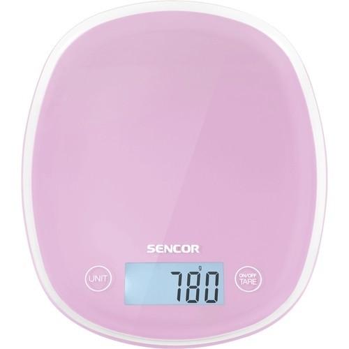 Sencor - Pastel Kitchen Scale - Cherry blossom pink