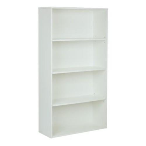 Pro-Line II Prado 31.5'' 4-Shelf Bookcase, White (PRD3260-WH)