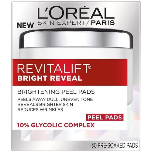 L'Oreal Paris Revitalift Bright Reveal Peel Pads, 3.2 oz, 30 Count