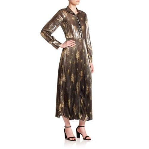 SUNO Pleated Long Dress