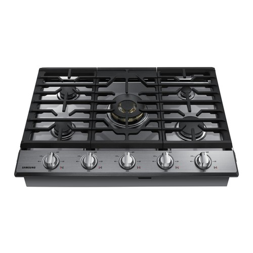 Samsung 30 in. Gas Cooktop in Stainless Steel5 Burners including Dual Ring Brass Power Burner