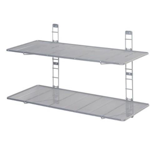 2-Tier Heavy-Duty Wall Mount Steel Wire Mesh Shelves - Seville Classics
