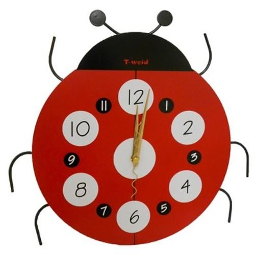 Creative Motions Ladybug Clock - Red/Black