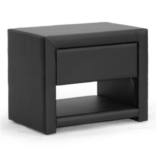 Massey Upholstered Modern Nightstand, Multiple Colors