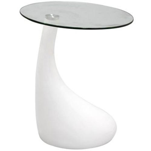 Modway Teardrop Side Table in White