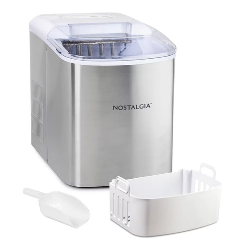 Nostalgia Electrics Stainless Steel Ice Cube Maker