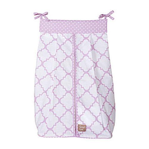 Trend Lab Baby Orchid Bloom Diaper Stacker - Purple