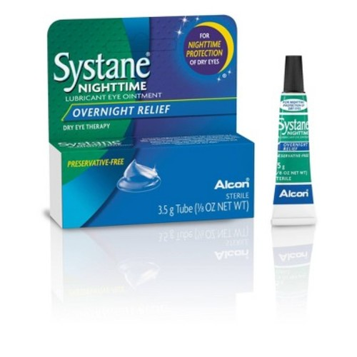 Systane Night Time Lubricant Eye Ointment - 0.13 oz