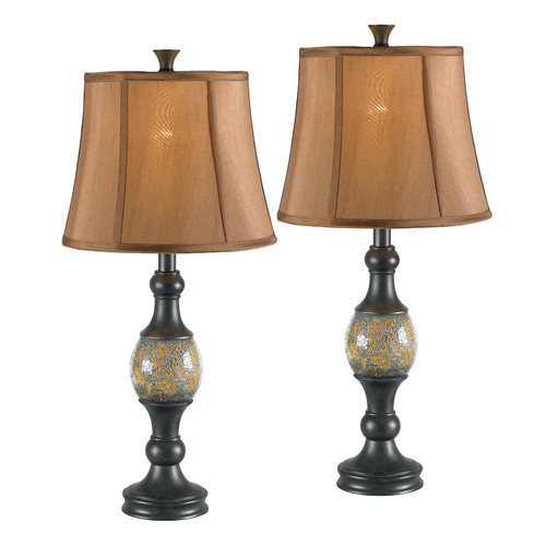 Kenroy Home Shay 29 in. Bronze Table Lamp Set (2-Pack)