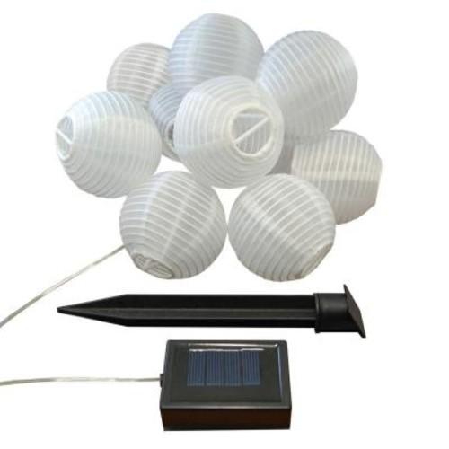 Lumabase 3 in. Solar White Nylon String Lights (10-Light)
