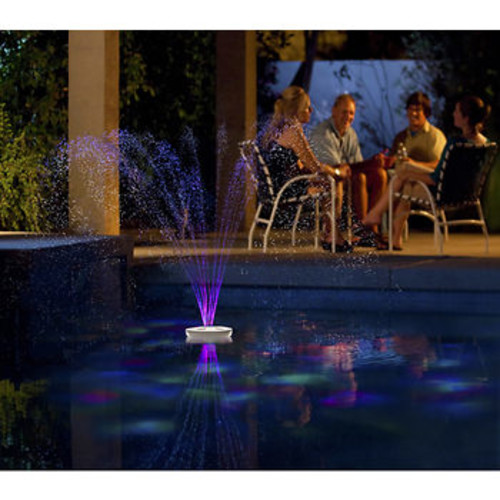 Blue Wave Aquajet Floating Pool Light Show and Fountain